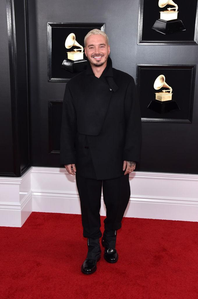 <p>J Balvin attends the 61st annual Grammy Awards at Staples Center on Feb. 10, 2019, in Los Angeles. </p>