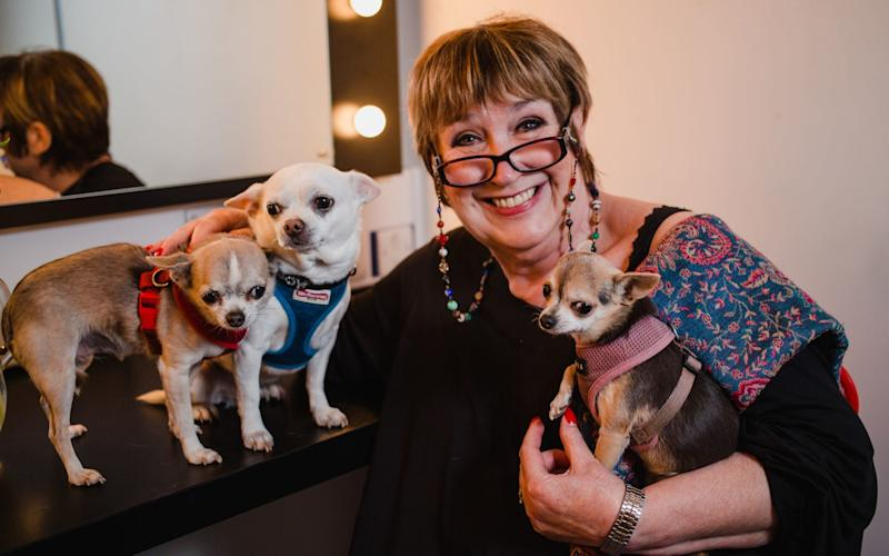 Jenni Murray with her dogs - PA/Jennie Murray/Guide Dogs