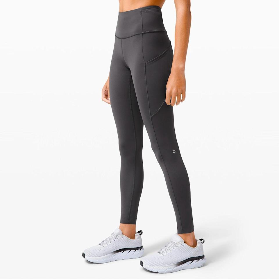 """<p><strong>Lululemon</strong></p><p>lululemon.com</p><p><strong>$128.00</strong></p><p><a href=""""https://go.redirectingat.com?id=74968X1596630&url=https%3A%2F%2Fshop.lululemon.com%2Fp%2Fwomen-pants%2FFast-And-Free-Full-HR-Tight-NR-Brushed%2F&sref=https%3A%2F%2Fwww.bestproducts.com%2Ffitness%2Fclothing%2Fg596%2Ffleece-lined-leggings-and-tights%2F"""" rel=""""nofollow noopener"""" target=""""_blank"""" data-ylk=""""slk:SHOP NOW"""" class=""""link rapid-noclick-resp"""">SHOP NOW</a></p><p><strong>Warmth rating:</strong> 🔥🔥🔥</p><p>OK, yes, these Lululemon leggings are <em>super</em> pricey. But in our opinion, they're totally worth every penny. If you're running in freezing temperatures, snowshoeing on the local trails, or shredding down the mountains, you'll happy with your Brushed Nulux Leggings.</p><p>Nulux is stretchy, opaque, and seriously soft — but it's the """"brushed"""" part of this proprietary fabric that is fleece-like.</p>"""