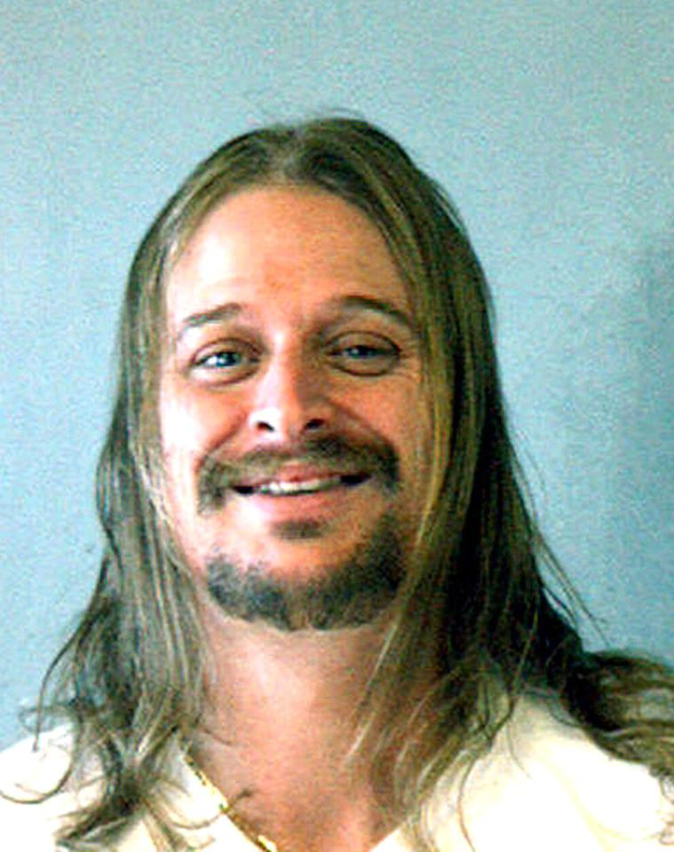 """Singer Kid Rock was arrested on battery charges following a brawl at a waffle house in Atlanta. <a href=""""http://www.splashnewsonline.com"""" target=""""new"""">Splash News</a> - October 21, 2007"""