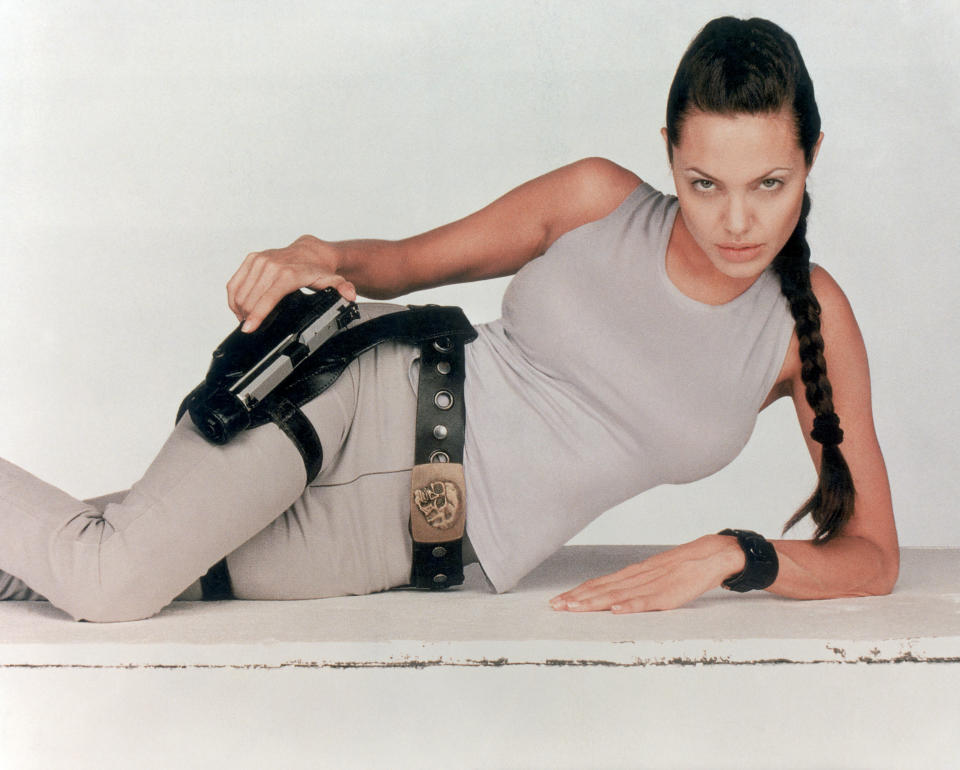 A promotional image from the 2001 version of <em>Tomb Raider</em> starring Angelina Jolie. (Photo: Getty Images)