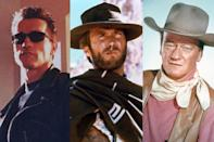 <p>a. Arnold Schwarzenegger<br>b. Clint Eastwood<br>c. John Wayne<br><br>(Photo: AMC) </p>