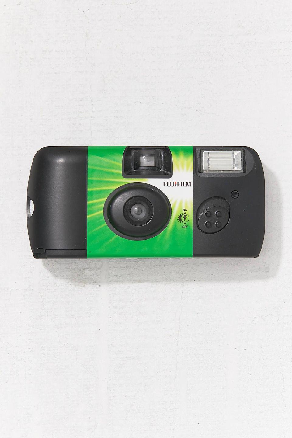 """<p><strong>Fujifilm</strong></p><p>urbanoutfitters.com</p><p><strong>$15.00</strong></p><p><a href=""""https://go.redirectingat.com?id=74968X1596630&url=https%3A%2F%2Fwww.urbanoutfitters.com%2Fshop%2Ffujifilm-fujicolor-quicksnap-flash-400-35mm-disposable-camera&sref=https%3A%2F%2Fwww.cosmopolitan.com%2Flifestyle%2Fg31710124%2Ftaurus-gift-guide%2F"""" rel=""""nofollow noopener"""" target=""""_blank"""" data-ylk=""""slk:SHOP NOW"""" class=""""link rapid-noclick-resp"""">SHOP NOW</a></p><p>A simple gift like a disposable camera will mean so much to your Taurus friend, who loves capturing their favorite moments and looking back on the memories.</p>"""