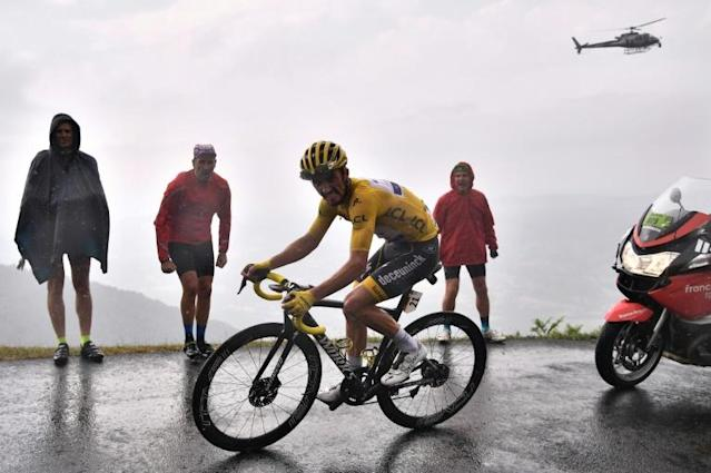 France's Julian Alaphilippe ends drama-filled week in yellow (AFP Photo/Marco Bertorello)