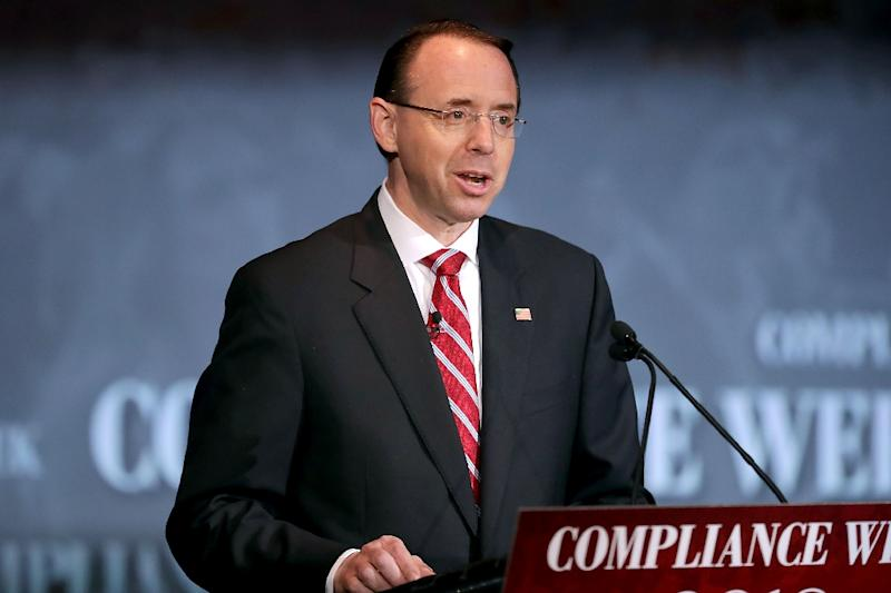 US Deputy Attorney General Rod Rosenstein promises to investigate whether there was any politically motivated surveillance of the Trump campaign (AFP Photo/CHIP SOMODEVILLA)