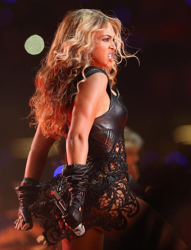 NEW ORLEANS, LA - FEBRUARY 03: Beyonce performs during the Pepsi Super Bowl XLVII Halftime Show at Mercedes-Benz Superdome on February 3, 2013 in New Orleans, Louisiana. (Photo by Christopher Polk/Getty Images)