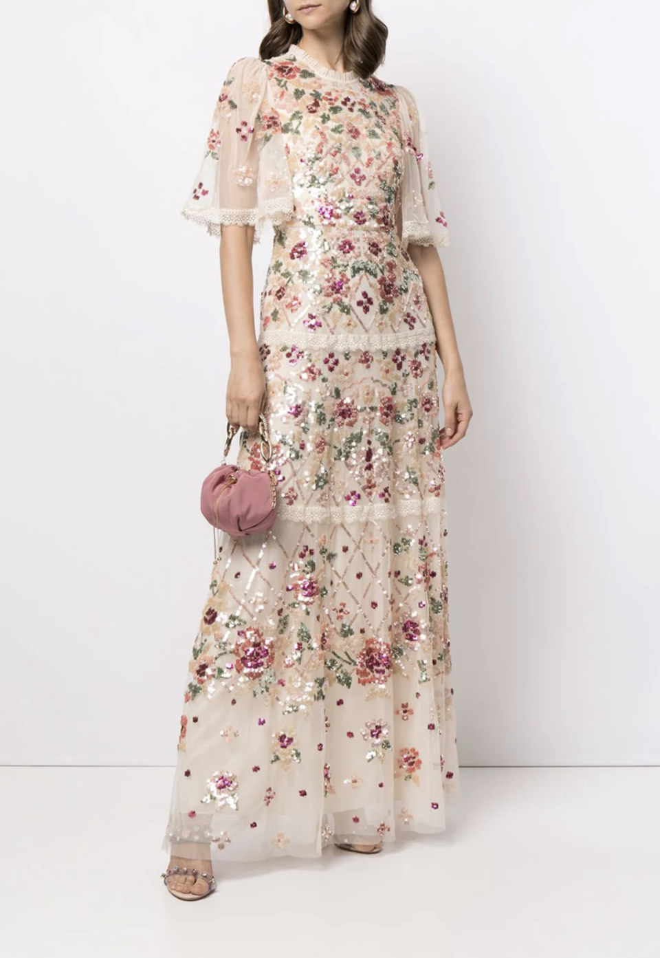 Needle & Thread Embroidered Floral Maxi Dress - FarFetch.