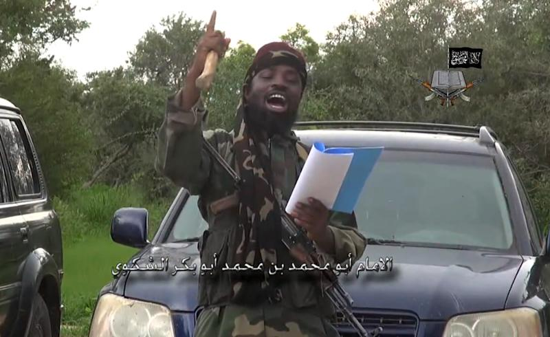 Boko Haram leader Abubakar Shekau says he has created an Islamic caliphate in northeast Nigeria, in a video message posted on August 24, 2014 (AFP Photo/)
