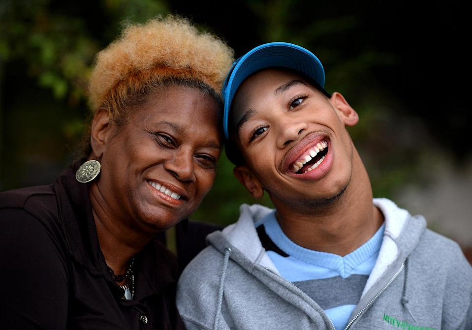 Saundra Adams, left, has taken care of Chancellor Lee Adams since his mother died. (Getty)