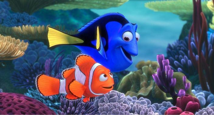 <p>Audiences just kept swimming to theaters to watch the adventure of a clownfish's search for his lost son. Add in a supporting cast that included vegetarian sharks, surfer bro turtles, and a blue tang with short term memory loss, and this movie was instantly unforgettable—no offense, Dory.</p>