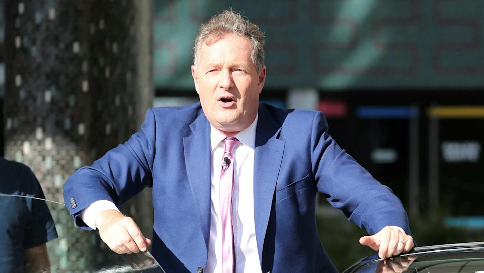 Piers Morgan goaded Matt Hancock for waiting until he went on holiday to do an interview with ITV. (Getty Images)