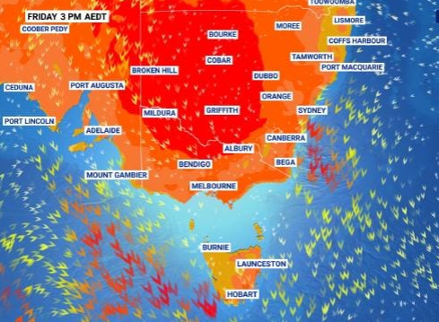The east coast of Australia will be heating up this week, with the hottest temperatures arriving Thursday to Saturday. Source: Sky News Weather