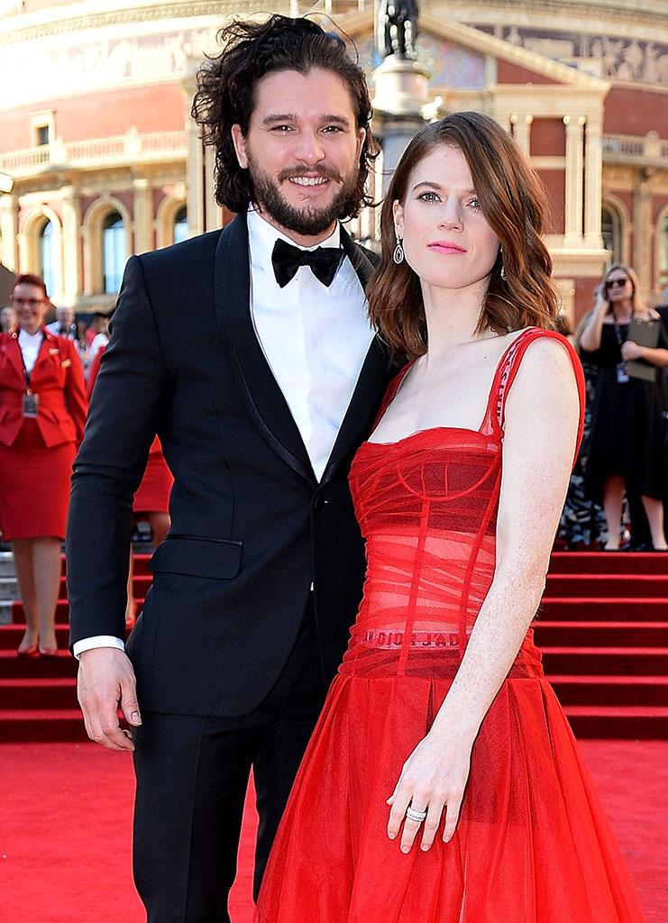Kit Harington and Rose Leslie, at the 2017 Olivier Awards on April 9, are now living together in his London home. (Photo: Jeff Spicer/Getty Images)