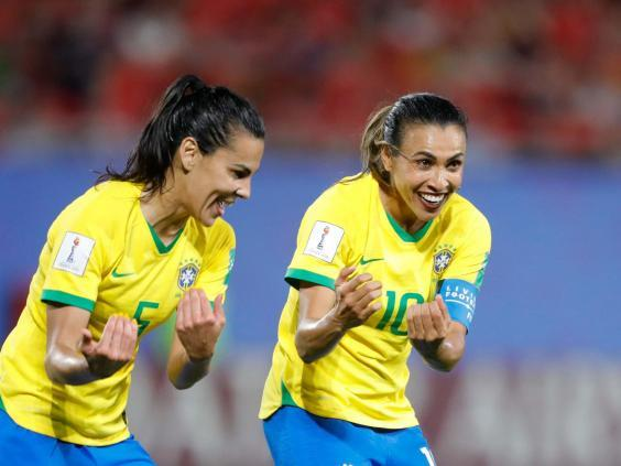 Marta scored her 17th Fifa World Cup goal to surpass Miroslav Klose's existing record (AP)