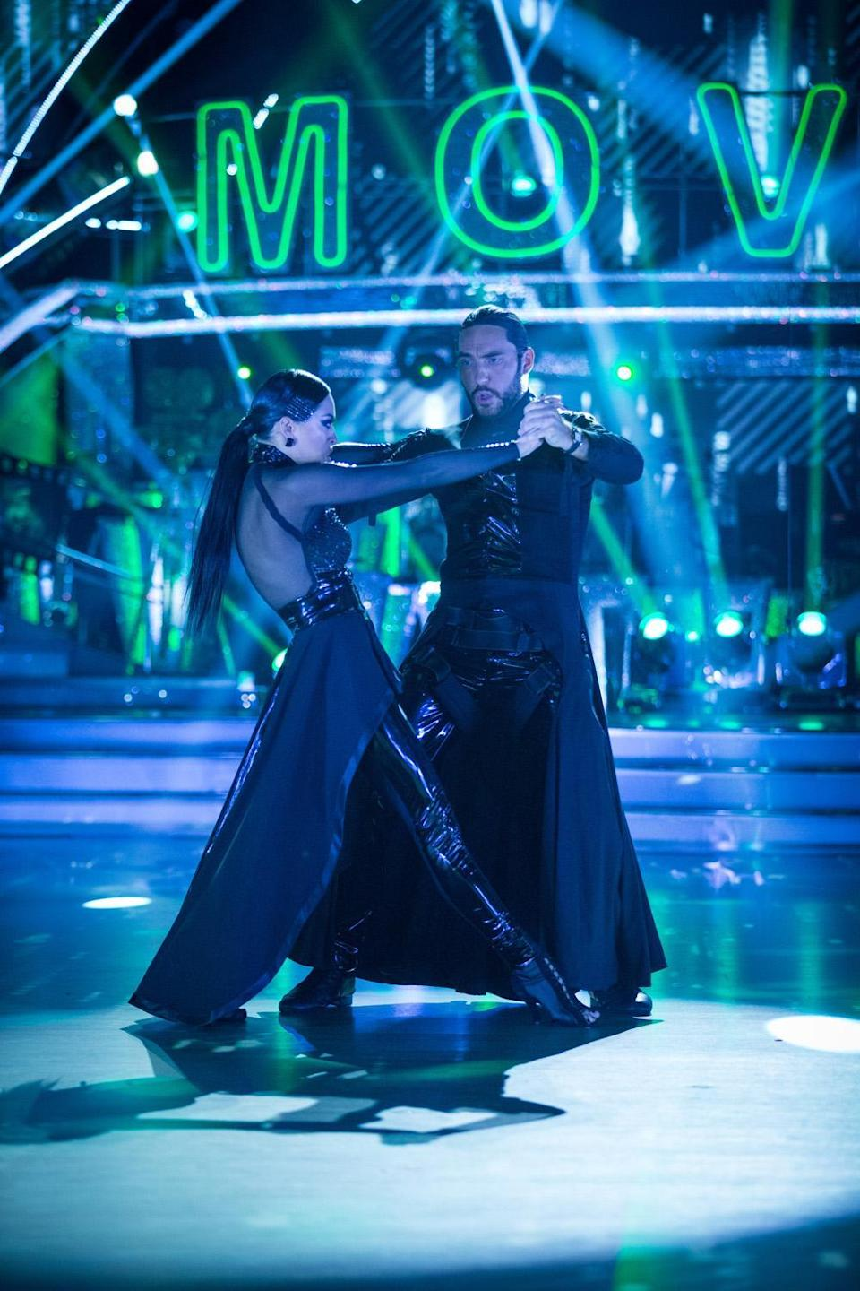 The pair are partners on Strictly Come Dancing (BBC/Guy Levy)