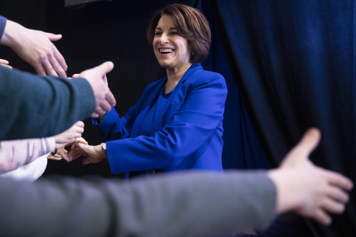 Democratic presidential candidate Sen. Amy Klobuchar. (AP Photo/Matt Rourke)