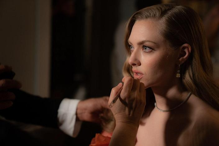 Genevieve perfecting my lips before showtime.