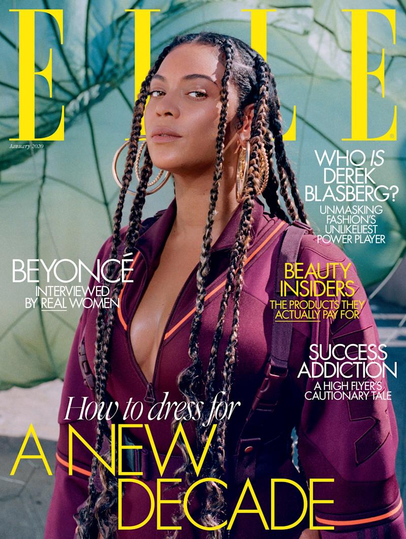 Cover star: The singer appears in the January issue of Elle (Melina Matsoukas/ELLE UK)