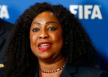FIFA Secretary General Fatma Samoura addresses the media after a meeting of the FIFA Council at the FIFA headquarters in Zurich, Switzerland October 13, 2016. REUTERS/Arnd Wiegmann