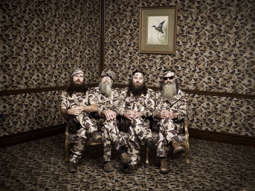 """Phil, Jase, Willie & Si Robertson of the A&E series """"Duck Dynasty."""""""