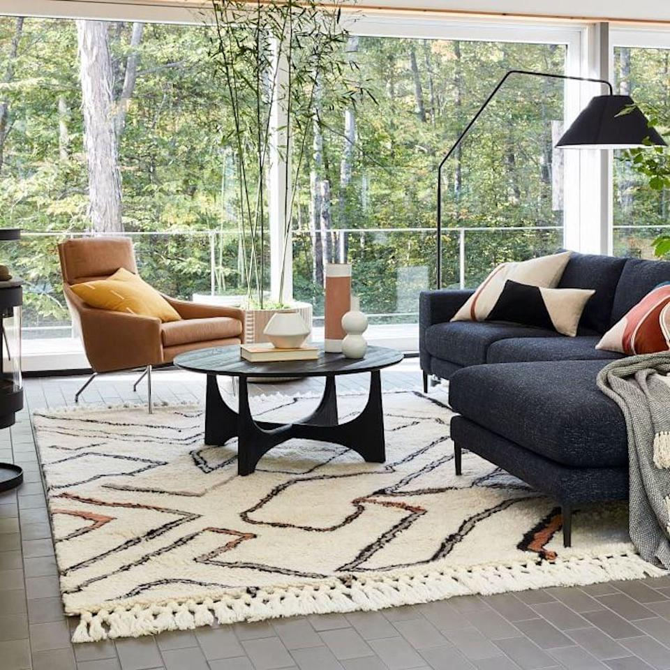 <p>If you're into bohemian-style decor, then you might fall in love with the <span>West Elm Wanderer Shag Rug</span> ($200-$1,700). The pattern and fringed edging add unique texture and style.</p>