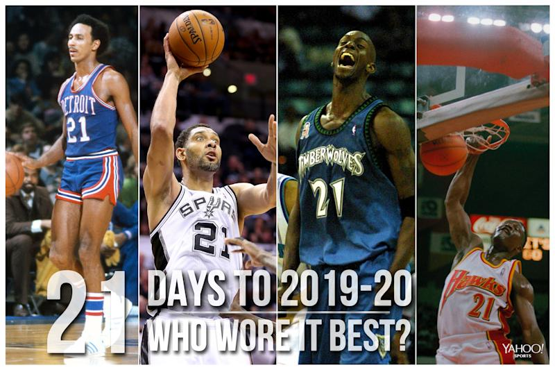 Which NBA player wore No. 21 best?