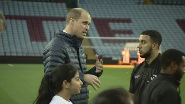William and Kate got a tour of Villa Park during their Royal visit to the WestMidlands - great news for William who is an Aston Villa fan. .