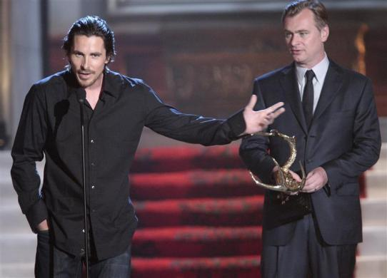 "3. Christian Bale, $1 billion.CAPTION: Christian Bale (L) and director Christopher Nolan accept the Most Anticipated Film award for ""The Dark Knight Rises"" at Spike TV's 6th annual ""Guys Choice"" awards in Culver City, California June 2, 2012."