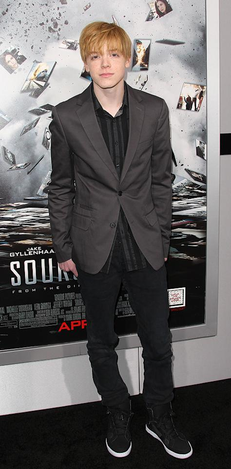 """<a href=""""http://movies.yahoo.com/movie/contributor/1809667182"""">Cameron Monaghan</a> attends the Los Angeles premiere of <a href=""""http://movies.yahoo.com/movie/1810150340/info"""">Source Code</a> on March 28, 2011."""