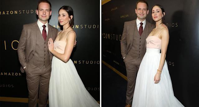 The 'Where'd You Go Bernadette' actor recycled her wedding gown, wearing her boho Cortana Bridal skirt for the Golden Globes' after-party. (Getty Images)