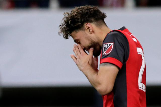 Soccer Football - CONCACAF Champions League Final Second Leg - Guadalajara vs Toronto FC - Estadio Akron, Guadalajara, Mexico - April 25, 2018 Toronto's Jonathan Osorio looks dejected after the match REUTERS/Henry Romero