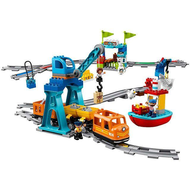 Kids can build and create their own train set, then become the train driver with the push and go motor on this LEGO creation. <br />Price:&nbsp;&pound;99.99