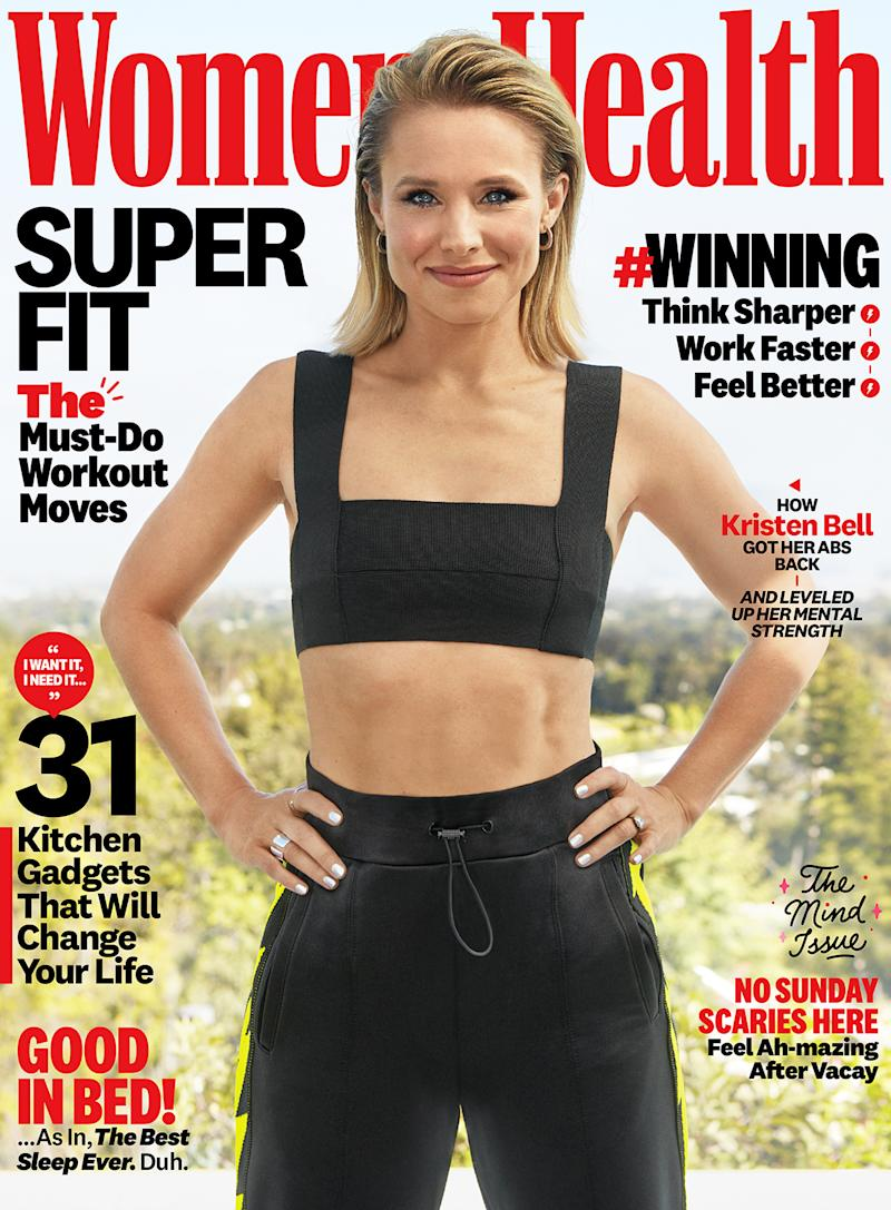 Kristen Bell posed for the latest issue of Women's Health and got personal about mental health and CBD oil. (Photo: Dennis Leupold for Women's Health)