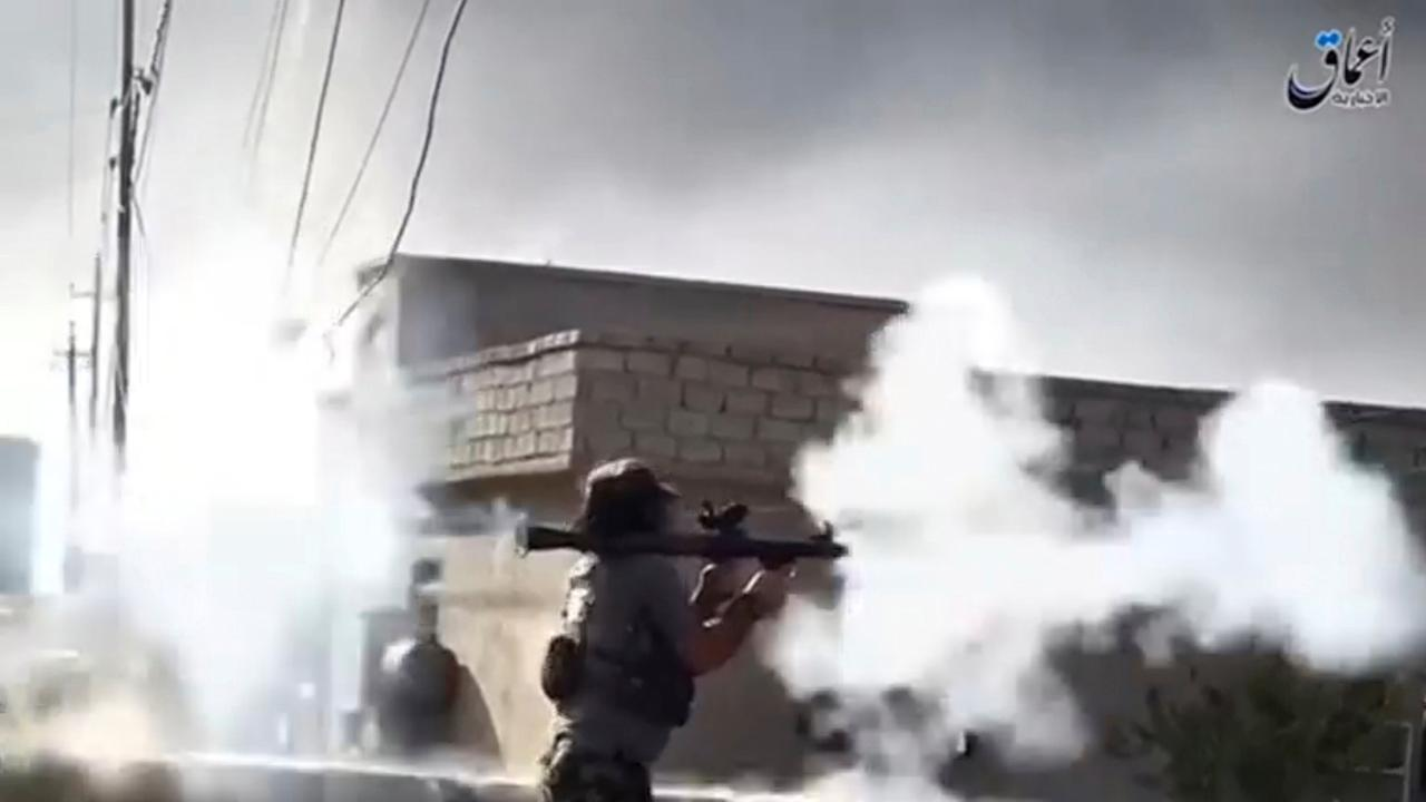 A still image from video shows Islamic State militants battling to maintain control around Mosul, Iraq August 16, 2016. Amaq News Agency via REUTERS TV   ATTENTION EDITORS - THIS IMAGE WAS PROVIDED BY A THIRD PARTY. MUST NOT OBSCURE LOGO. FOR EDITORIAL USE ONLY. NO RESALES. NO ARCHIVES     TPX IMAGES OF THE DAY