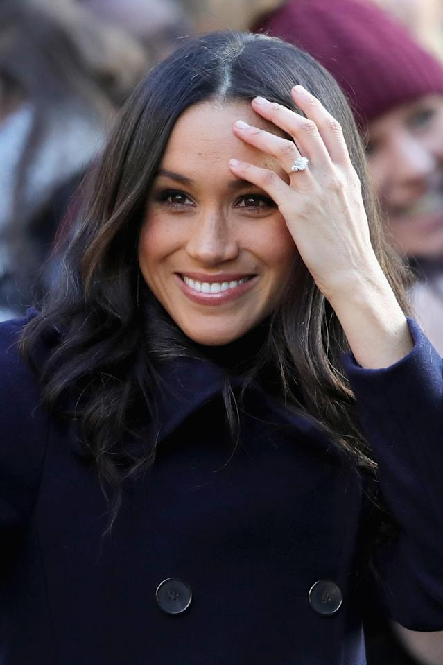 Markle reportedly celebrated without her mother or Kate Middleton. (Photo: Getty)