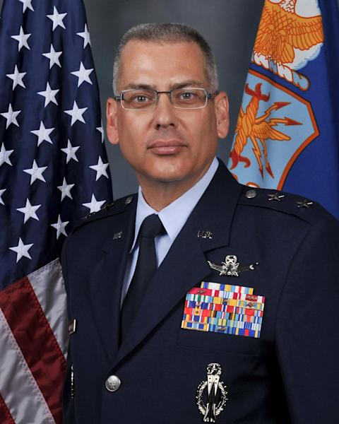 This undated handout photo provided by the US Air Force shows Maj. Gen. Jack Weinstein. The Air Force is firing the two-star general in charge of all of its nuclear missiles in response to an investigation into alleged personal misbehavior, officials told The Associated Press on Friday. Maj. Gen. Michael Carey is being removed from command of the 20th Air Force, which is responsible for three wings of intercontinental ballistic missiles — a total of 450 missiles at three bases across the country, the officials said. Weinstein will temporarily replace Carey as head of 20th Air Force. (AP Photo/US Air Force)