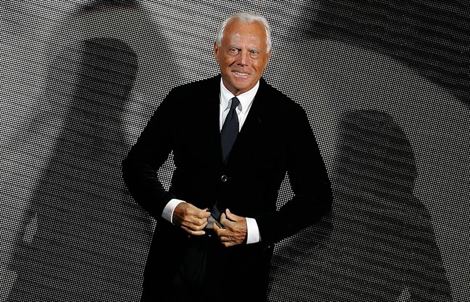 Giorgio Armani (REUTERS/Max Rossi Pictures of the Month January 2006)