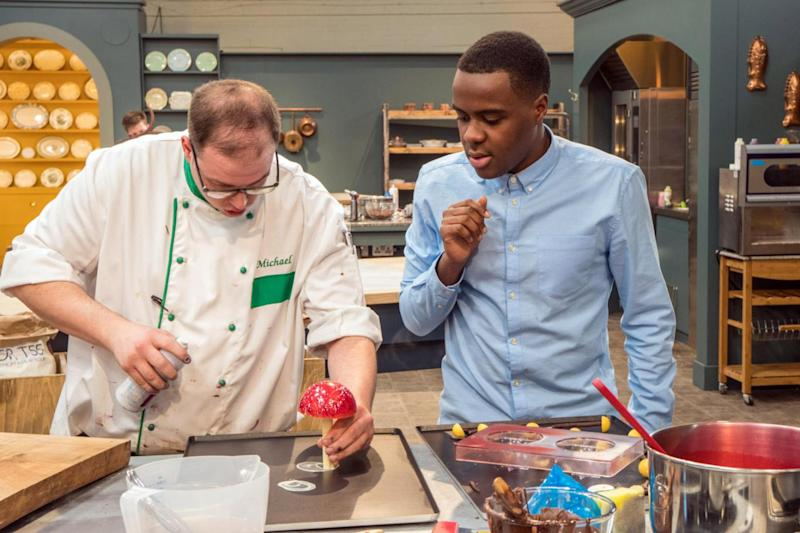 Chat: Chef David talking to presenter Liam Charles (Channel 4)