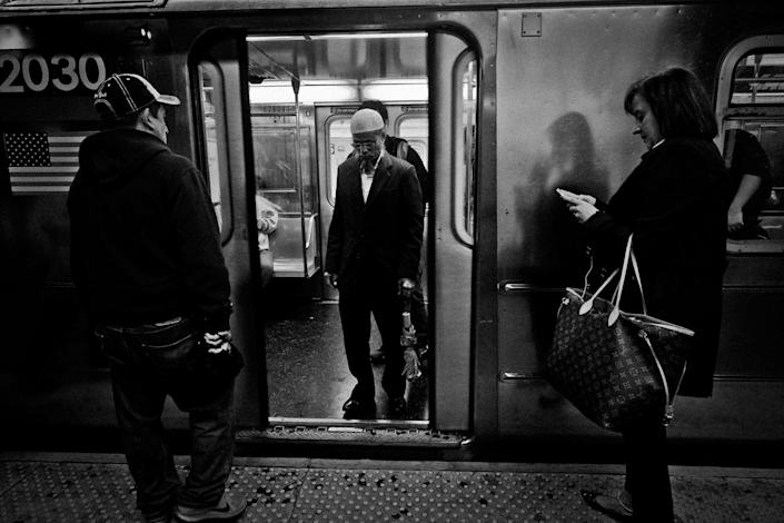 <p>The 74th Street 7 train subway station in Jackson Heights, Queens, N.Y., in October 2015. (Photo: Yunghi Kim/Contact Press Images) </p>