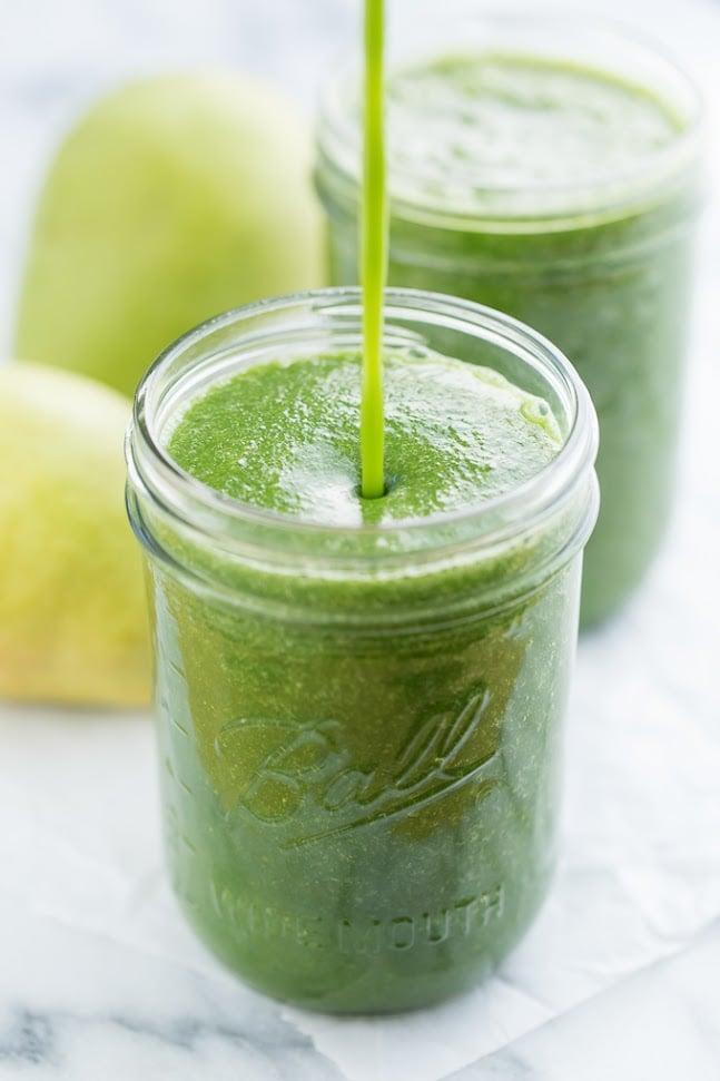 "<p><strong>Get the recipe:</strong> <a href=""http://getinspiredeveryday.com/food/ginger-pear-green-smoothie/"" rel=""nofollow noopener"" target=""_blank"" data-ylk=""slk:ginger pear green smoothie"" class=""link rapid-noclick-resp"">ginger pear green smoothie</a></p>"