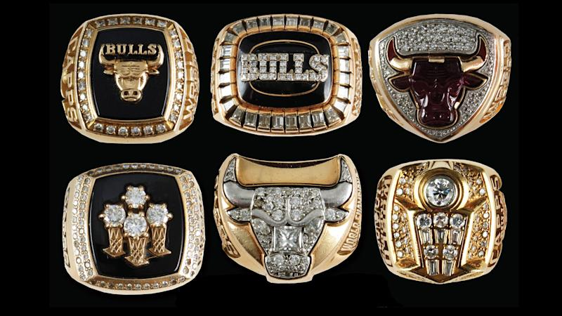 6 Bulls NBA title rings owned by security guard John Capps up for auction