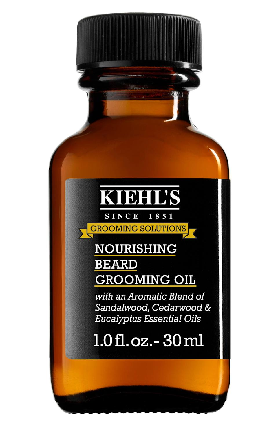 """<p><strong>Kiehl's</strong></p><p>nordstrom.com</p><p><strong>$30.00</strong></p><p><a href=""""https://go.redirectingat.com?id=74968X1596630&url=https%3A%2F%2Fshop.nordstrom.com%2Fs%2Fkiehls-since-1851-nourishing-beard-grooming-oil%2F4929737&sref=https%3A%2F%2Fwww.redbookmag.com%2Flife%2Fg34761881%2Fgift-ideas-for-men%2F"""" rel=""""nofollow noopener"""" target=""""_blank"""" data-ylk=""""slk:Shop Now"""" class=""""link rapid-noclick-resp"""">Shop Now</a></p><p>Facial hair of any length or style can benefit from a dose of this lightweight, woodsy-scented oil which softens whiskers and adds shine but also moisturizes the skin underneath for maximum facial hair health. </p>"""