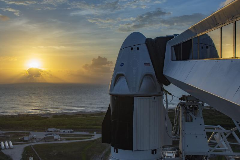 SpaceX Crew Dragon at dawn