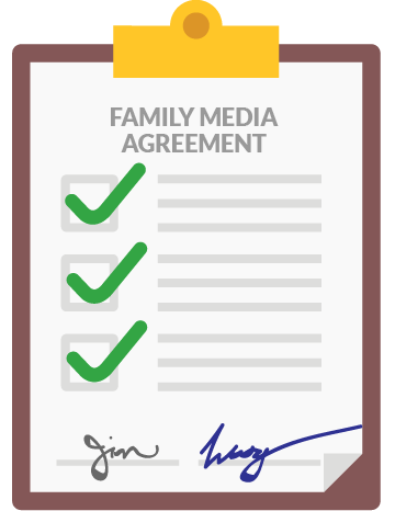 While you can use a template, the best idea is for your family to discuss together what should be on it.