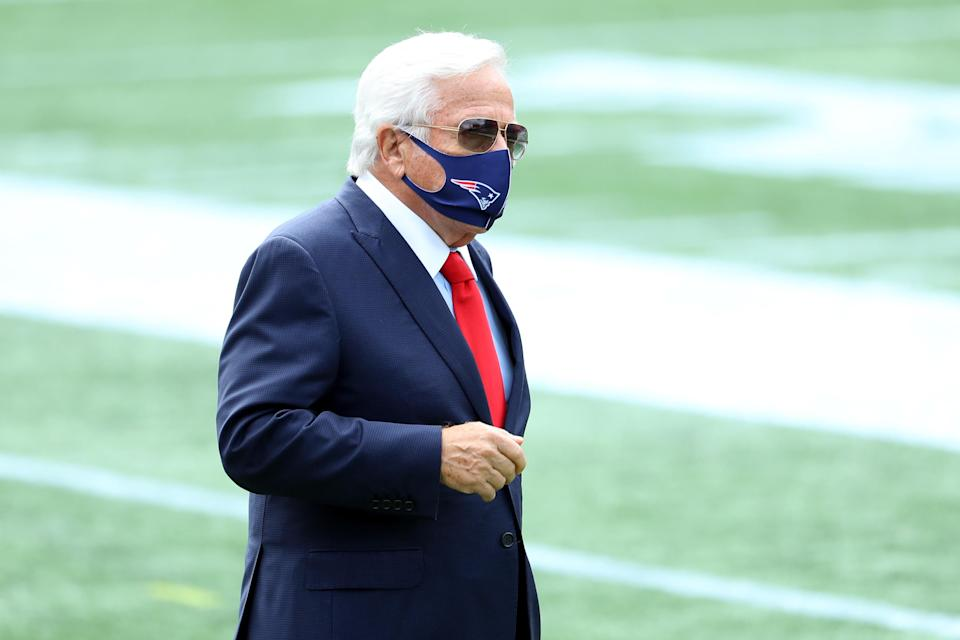 Florida prosecutors said Monday they won't challenge a court ruling blocking key video in Robert Kraft's case, meaning charges will likely be dropped. (Maddie Meyer/Getty Images)