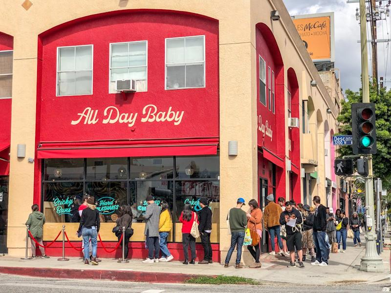 Customers turned out in droves for a fire sale at All Day Baby in March, shortly after the restaurant shutdown went into effect.