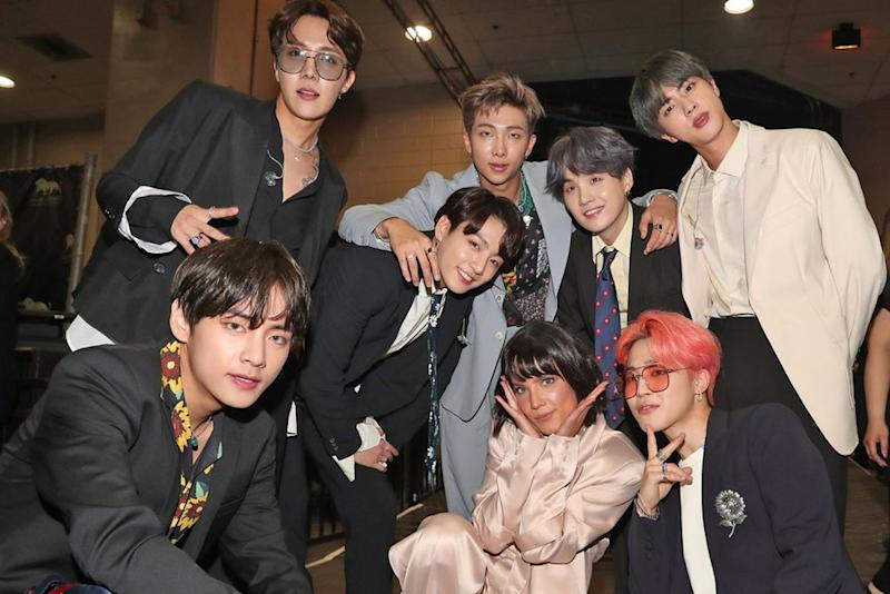 Halsey with BTS | Christopher Polk/Getty Images