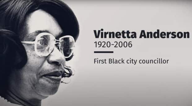 Virnetta Anderson became the first Black city councillor in Calgary. (Anderson family, CBC - image credit)