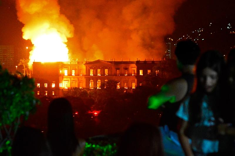 After the September 2 fire ripped through the four-story former imperial palace, Brazil's education ministry released the equivalent of $2.5 million for emergency works