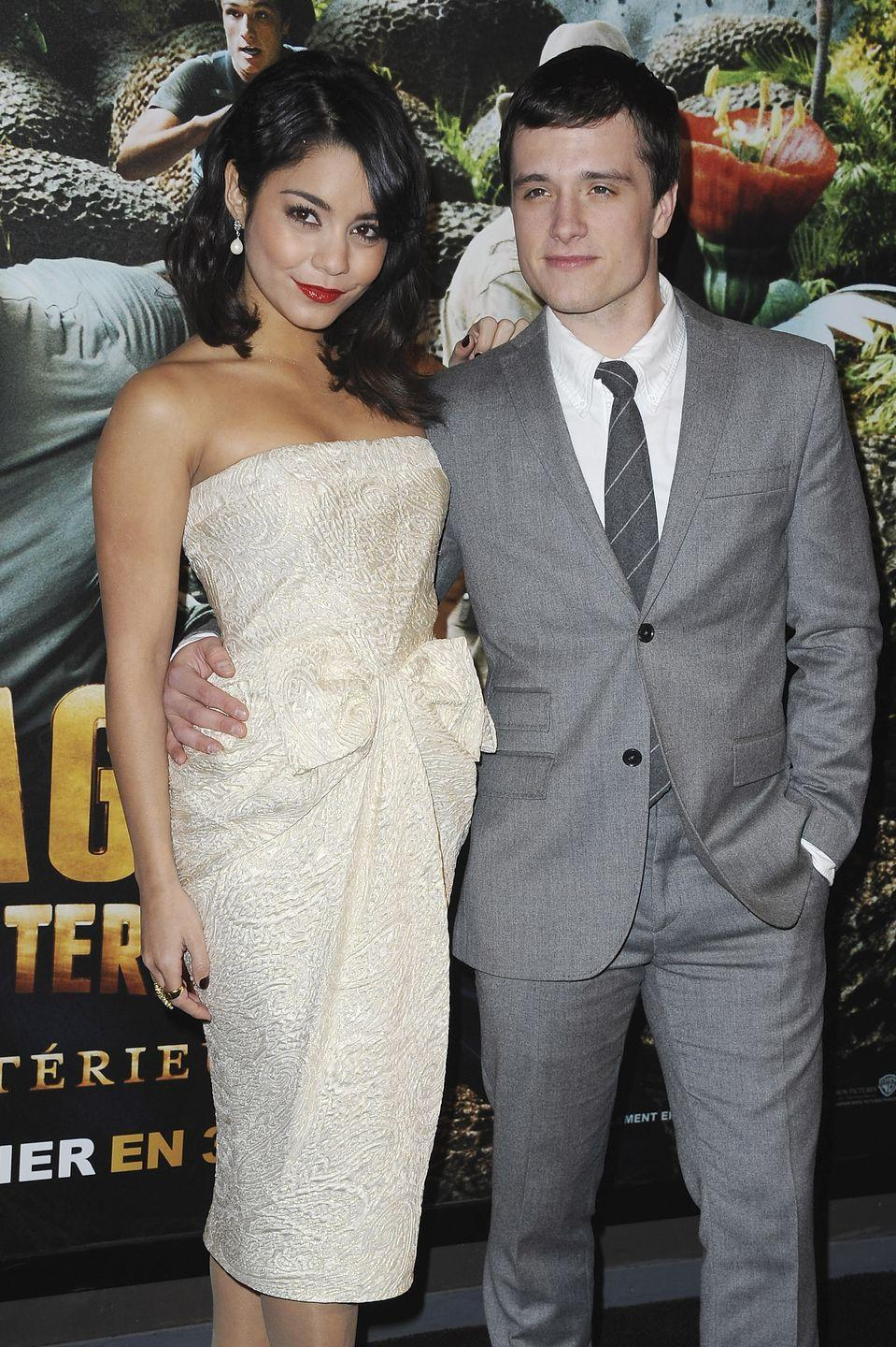 """<p>Vanessa Hudgens cozied up with Josh Hutcherson after filming <em>Journey 2: The Mysterious Island</em> but the short-lived romance quickly fizzled and the couple split in 2012. During a press tour for <em>Journey 2,</em> the pair <a href=""""https://www.youtube.com/watch?v=I_zc4a0kGkA"""" rel=""""nofollow noopener"""" target=""""_blank"""" data-ylk=""""slk:sat down with Today"""" class=""""link rapid-noclick-resp"""">sat down with <em>Today</em></a> and admitted that they did, in fact, date and remained """"really good friends.""""</p>"""